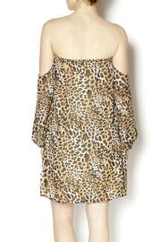 Turquoise Haven Leopard Dress - Back cropped