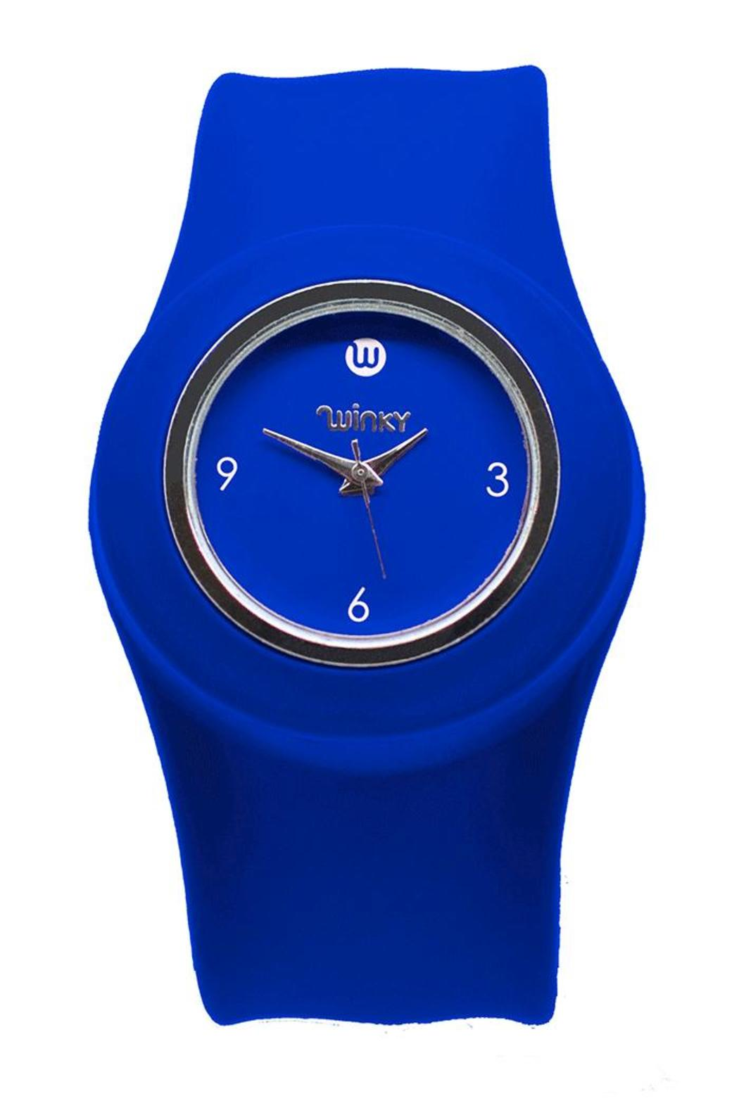 Winky Designs Blue Slap Watch - Front Cropped Image