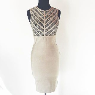 Shoptiques Product: Beige Fitted Dress