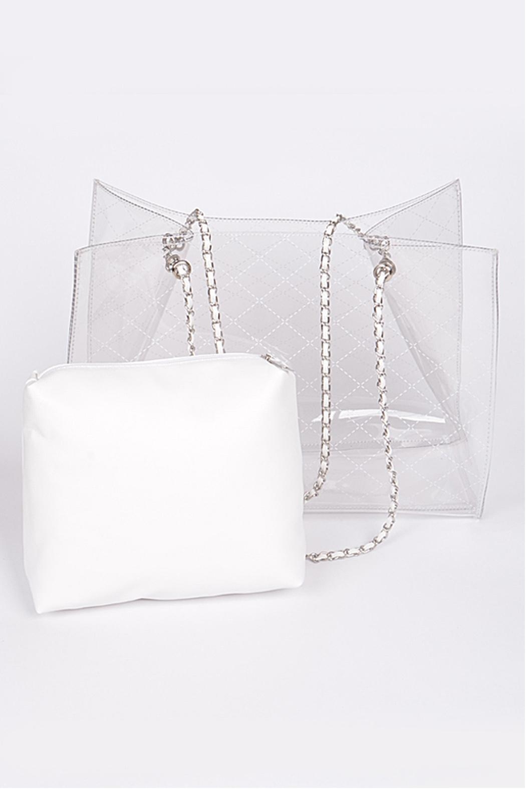 3AM FOREVER Clear Vinyl Tote - Front Cropped Image