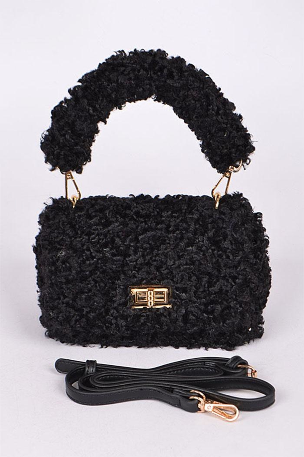 3AM FOREVER Fuax Fur Crossbody - Front Cropped Image