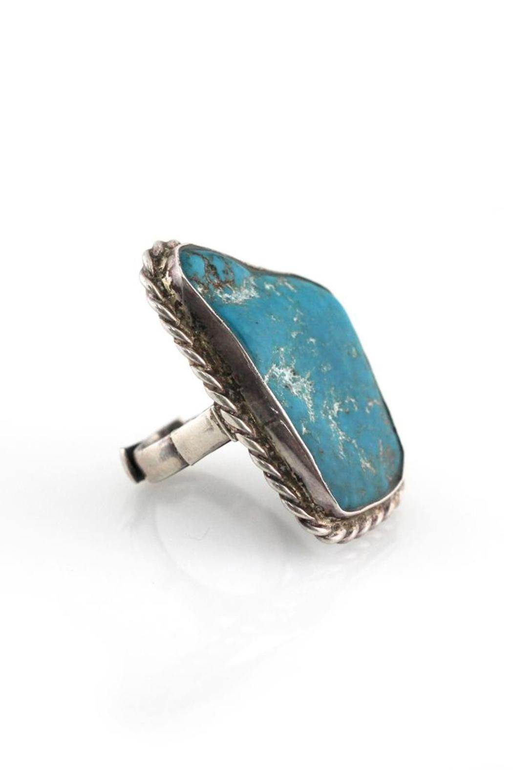 Natalie B Turquoise Silver Ring - Side Cropped Image