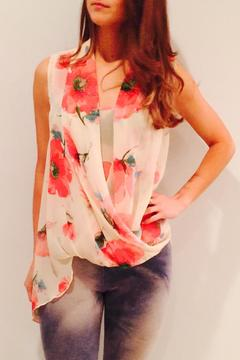 Freeway Apparel Asymmetrical Floral Top - Product List Image