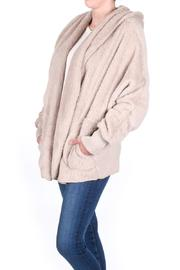 Honey Punch Fuzzy Hooded Jacket - Side cropped
