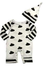 3birds Black & White Romper - Product Mini Image