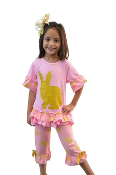 Shoptiques Product: Gold Pink Bunny