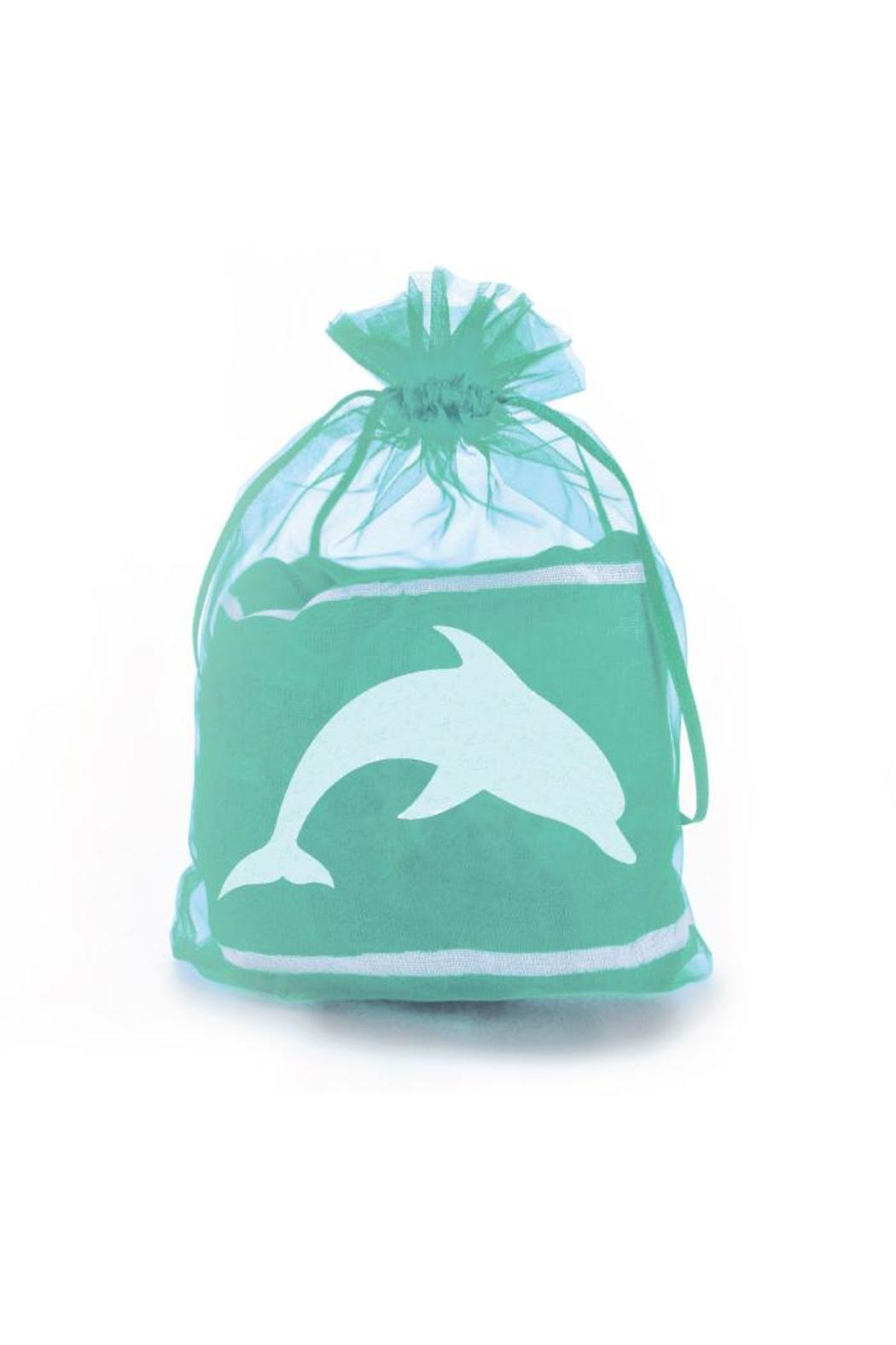Winky Designs Mint-Green Dolphin Scarf - Front Full Image