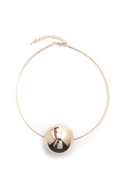 Shoptiques Product: Thin choker Gold Ball - Front cropped