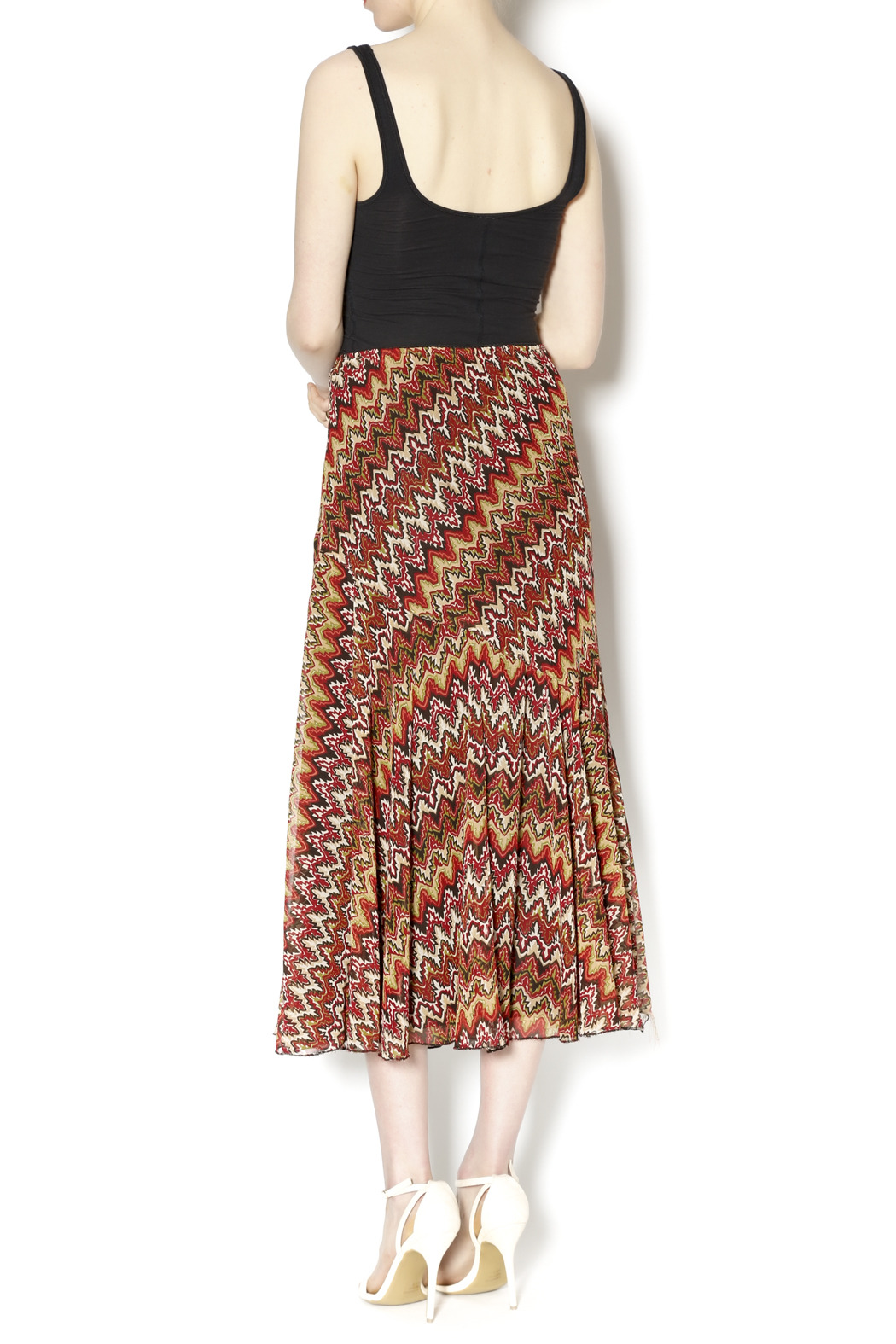 Emma G Long Ruffled Skirt from Georgia by The Dragonfly Boutique u2014 Shoptiques