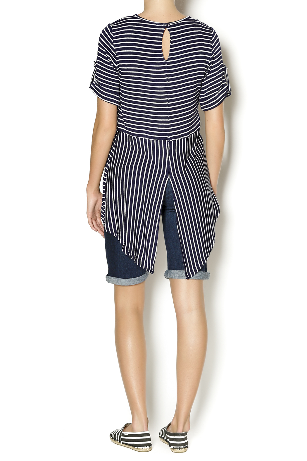 Mesmerize Striped High Low Top - Side Cropped Image