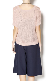 Kensie Blush Knit Sweater - Back cropped
