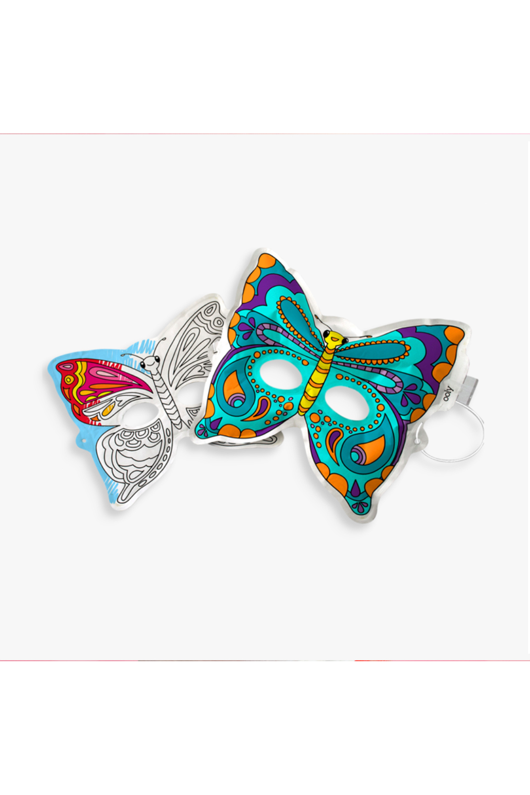 Ooly 3D Colorables Breezy Butterfly Masks - Front Full Image