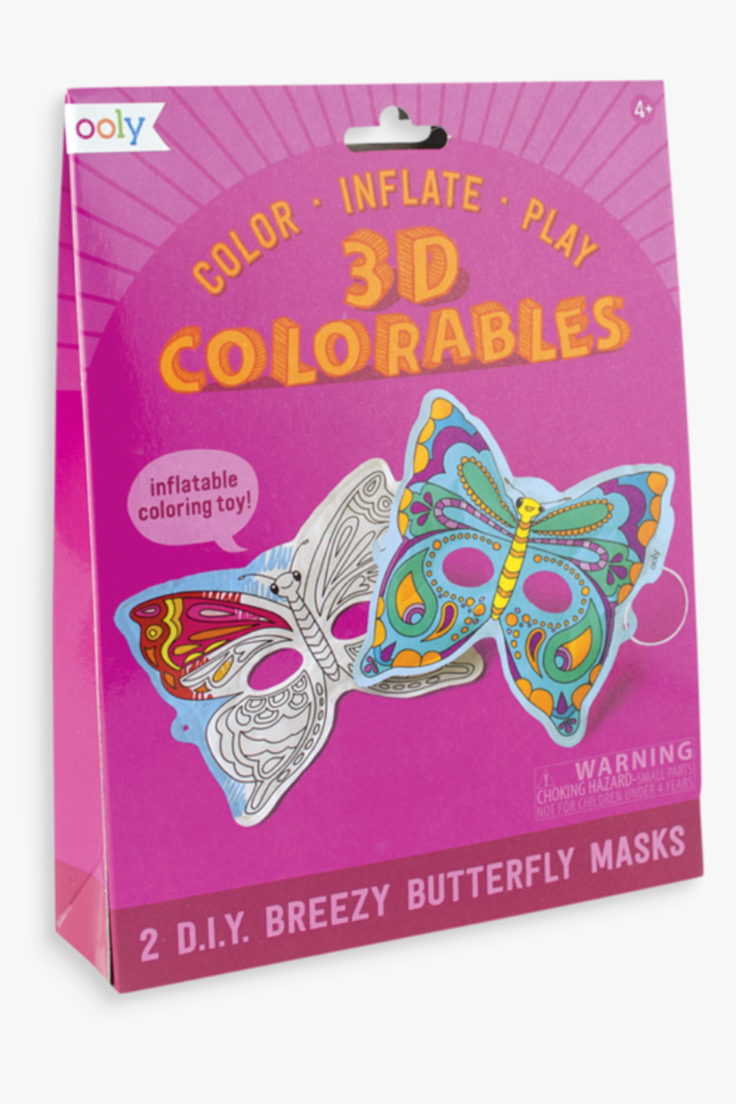 Ooly 3D Colorables Breezy Butterfly Masks - Main Image