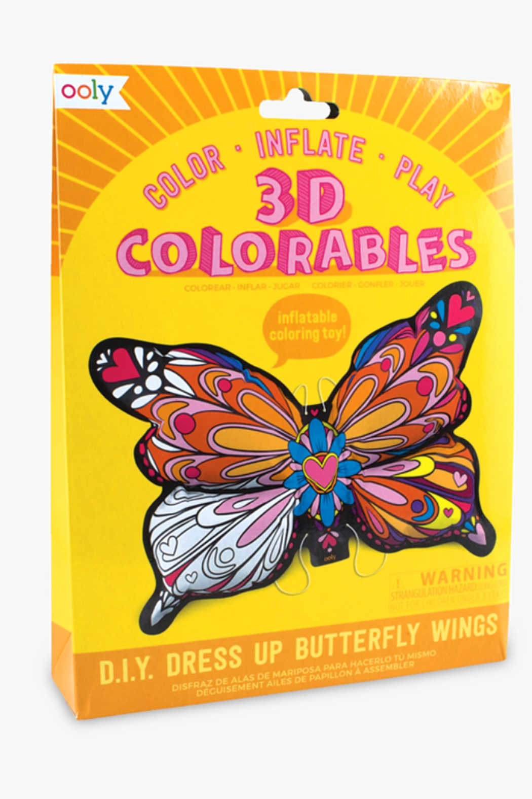 Ooly 3D Colorables Dress Up Butterfly Wings - Main Image
