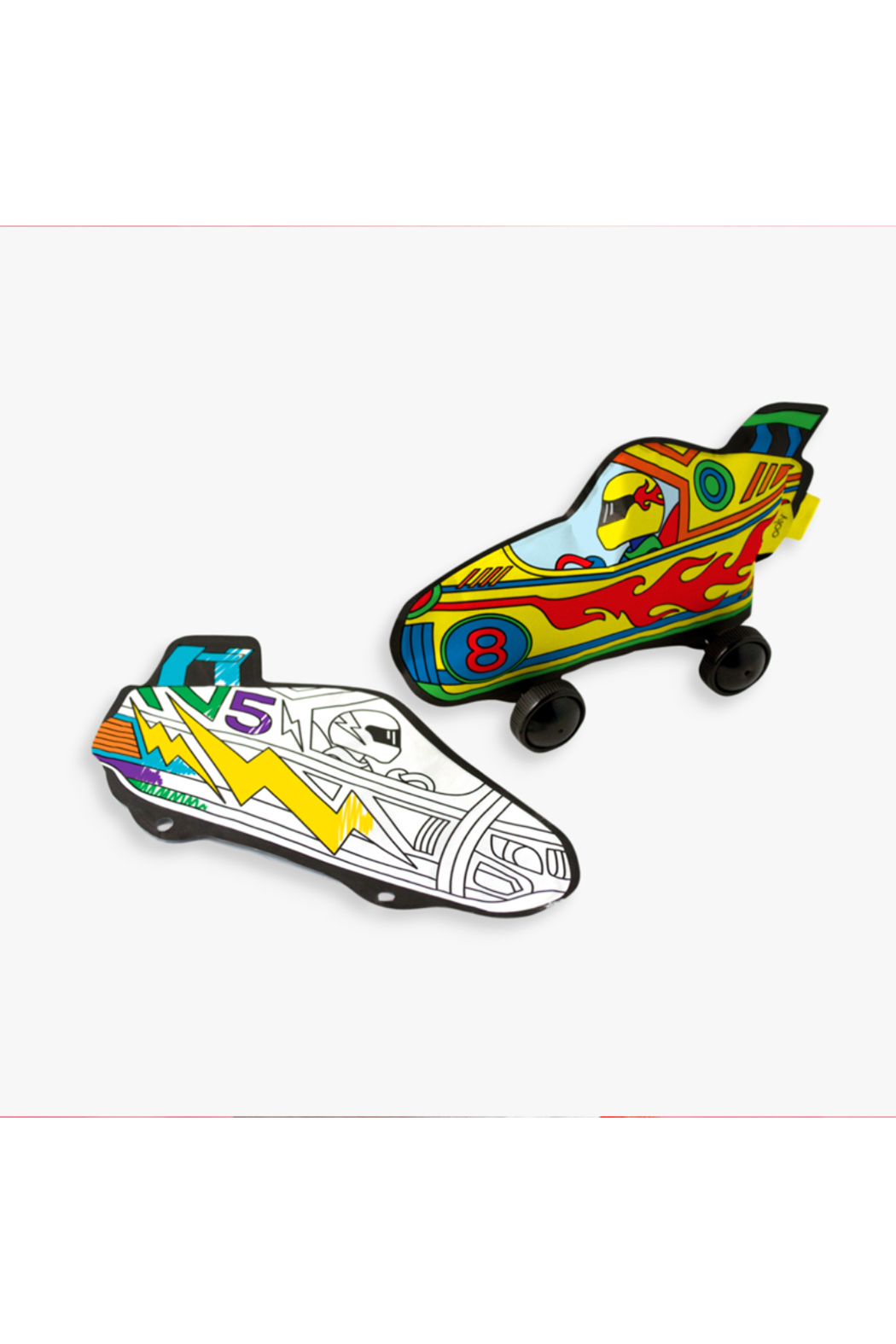 Ooly 3D Colorables Radical Race Cars - Front Full Image