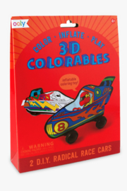 Ooly 3D Colorables Radical Race Cars - Front cropped