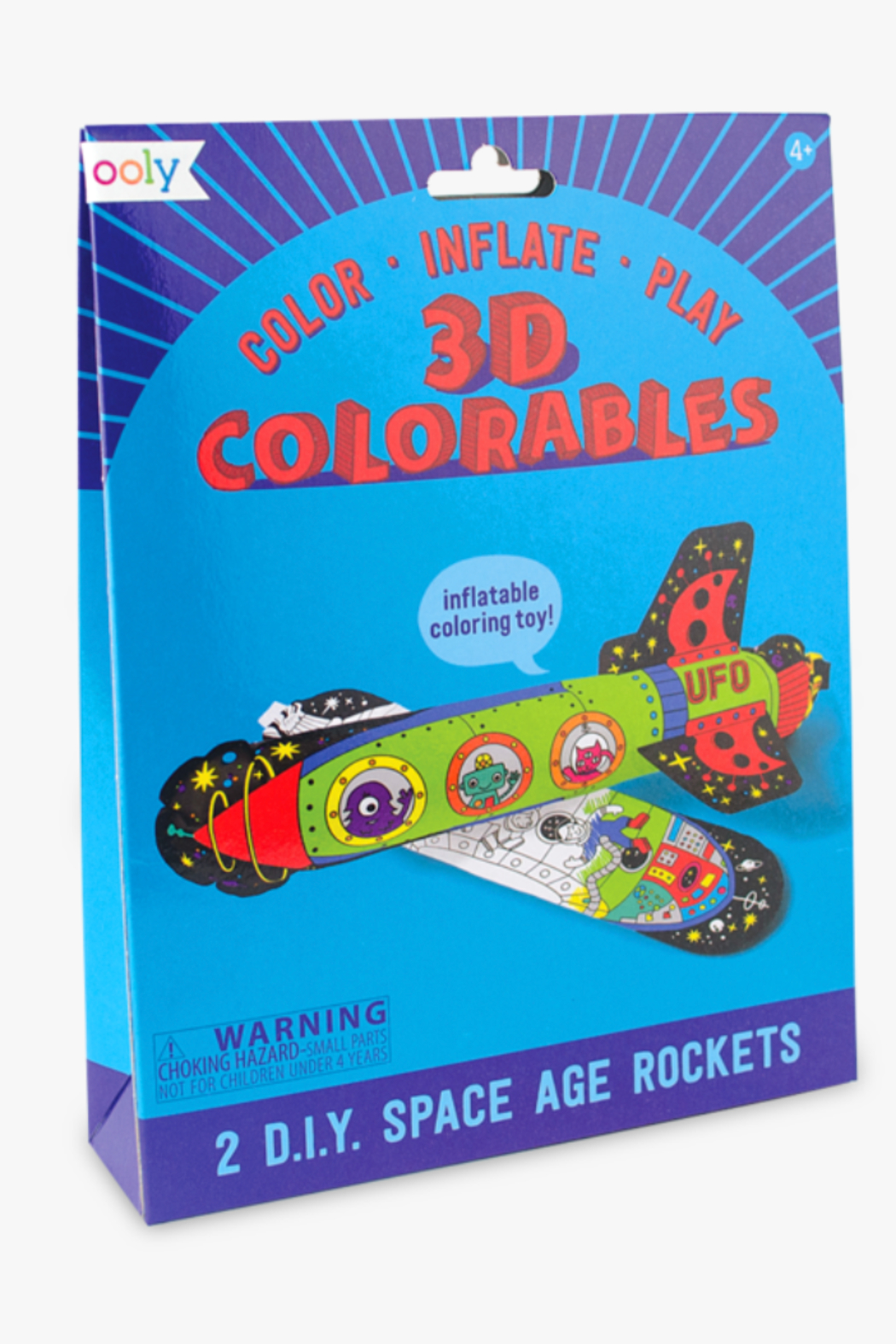 Ooly 3D Colorables Space Age Rockets - Main Image