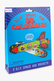 Ooly 3D Colorables Space Age Rockets - Front cropped