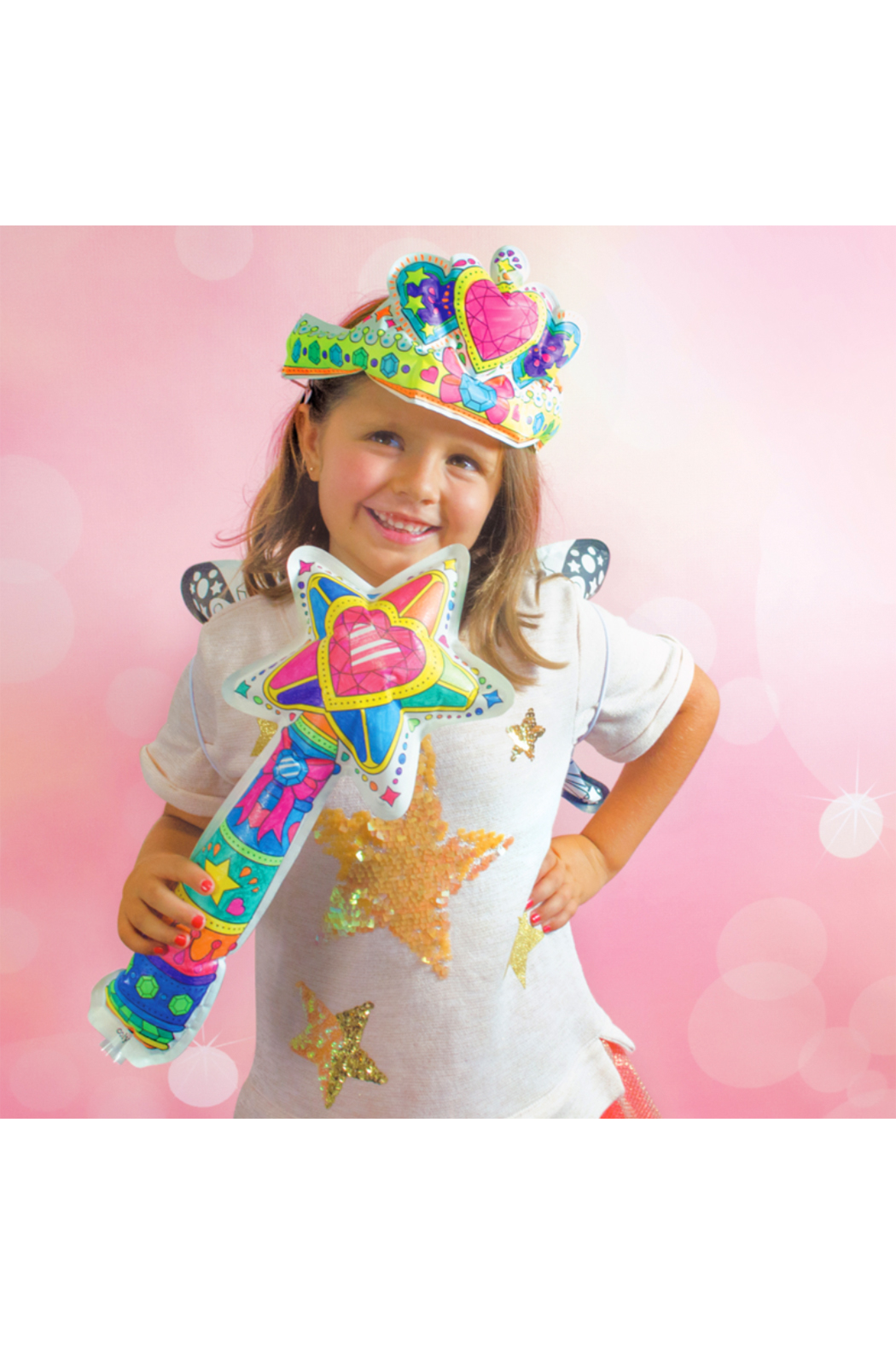 Ooly 3D Colorables Wand and Tiara - Front Full Image