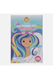 Tiger Tribe 3D Colouring Set - Rainbow Dreams - Front cropped