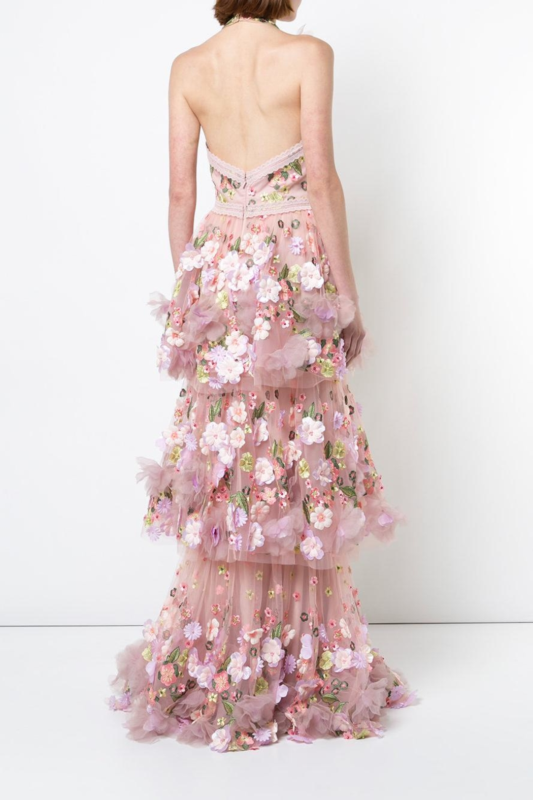 Notte by Marchesa 3d Floral Gown - Side Cropped Image