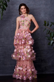 Notte by Marchesa 3d Floral Gown - Front cropped