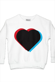 Shapes Of Things 3d Heart Sweatshirt - Front cropped