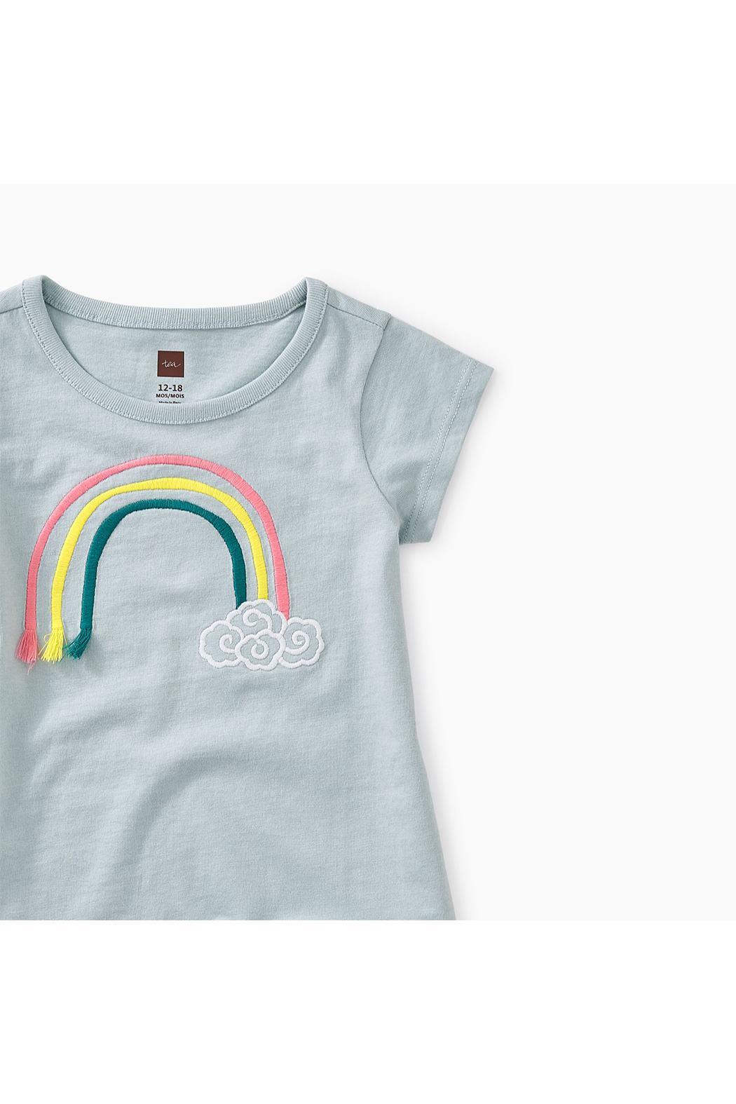 Tea Collection 3D Rainbow Baby Graphic Tee - Front Full Image