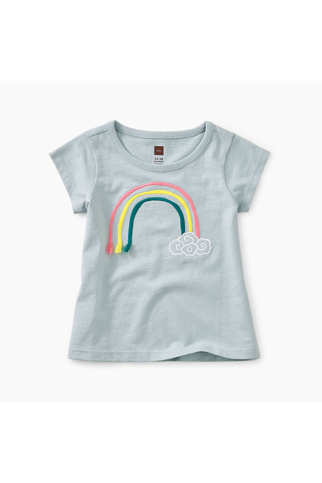 Tea Collection 3D Rainbow Baby Graphic Tee - Front Cropped Image