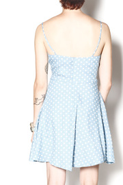 Everly Dotty Chambray Dress - Back cropped