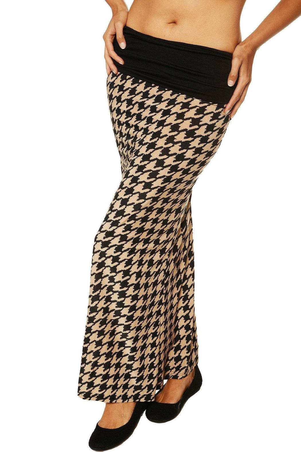 24 7 comfort apparel foldover maxi skirt from california
