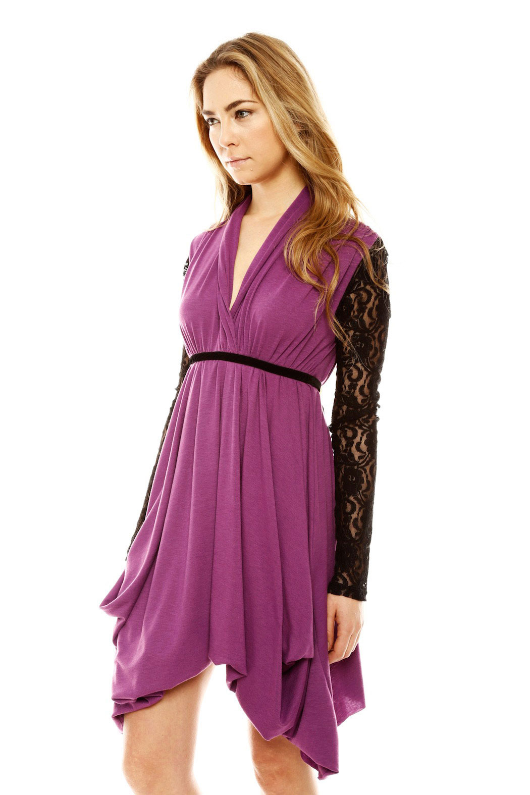 ToughLove Lace Sleeve Dress - Side Cropped Image