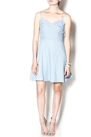 Everly Dotty Chambray Dress - Front full body