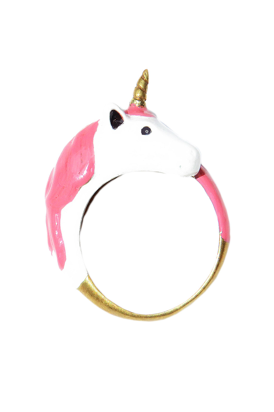 G9 Enamel Unicorn Ring - Front Cropped Image