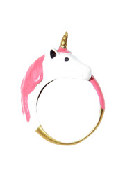 G9 Enamel Unicorn Ring - Front cropped