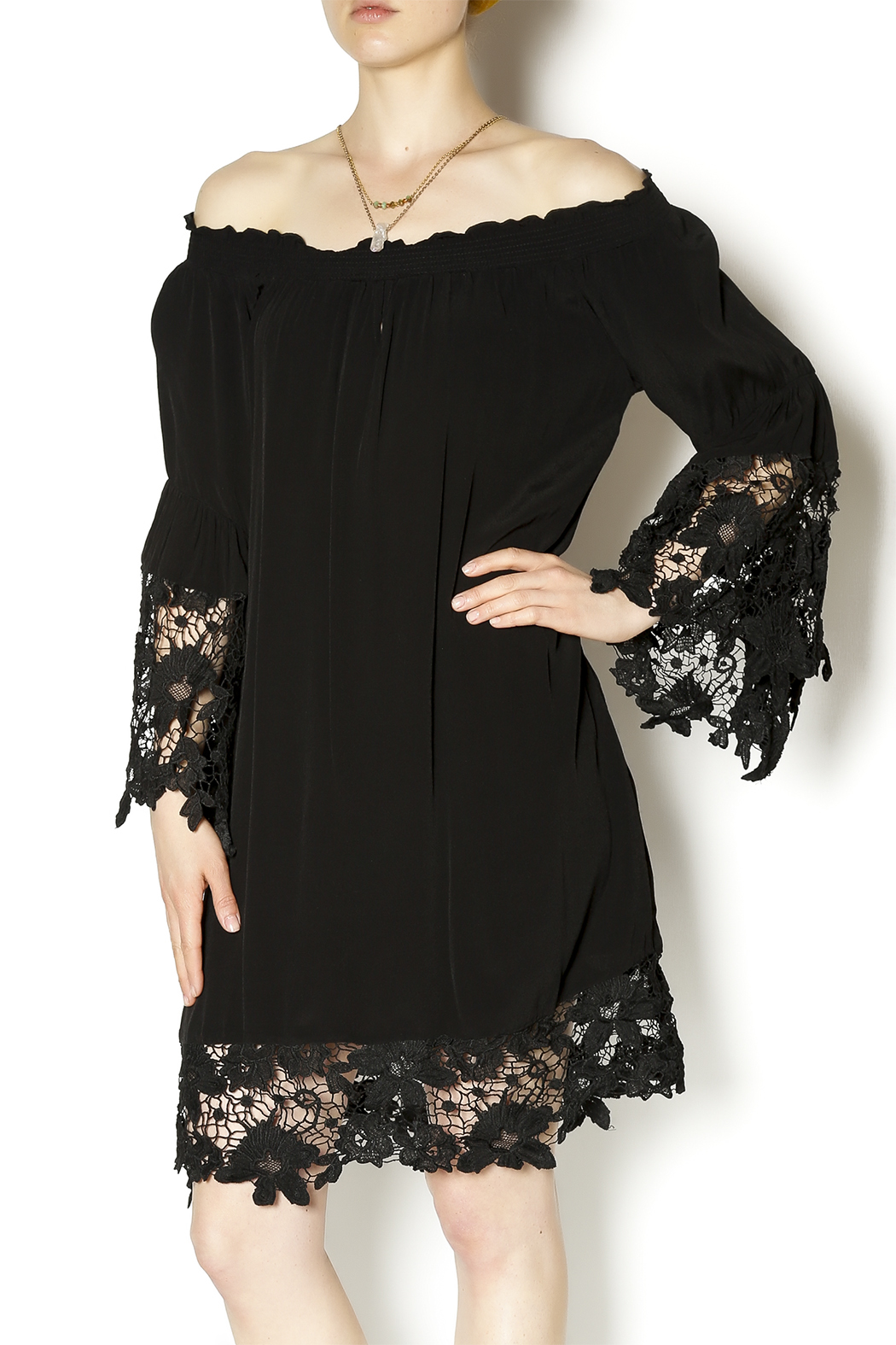 Two Chic Luxe Lace Detailed Dress - Main Image