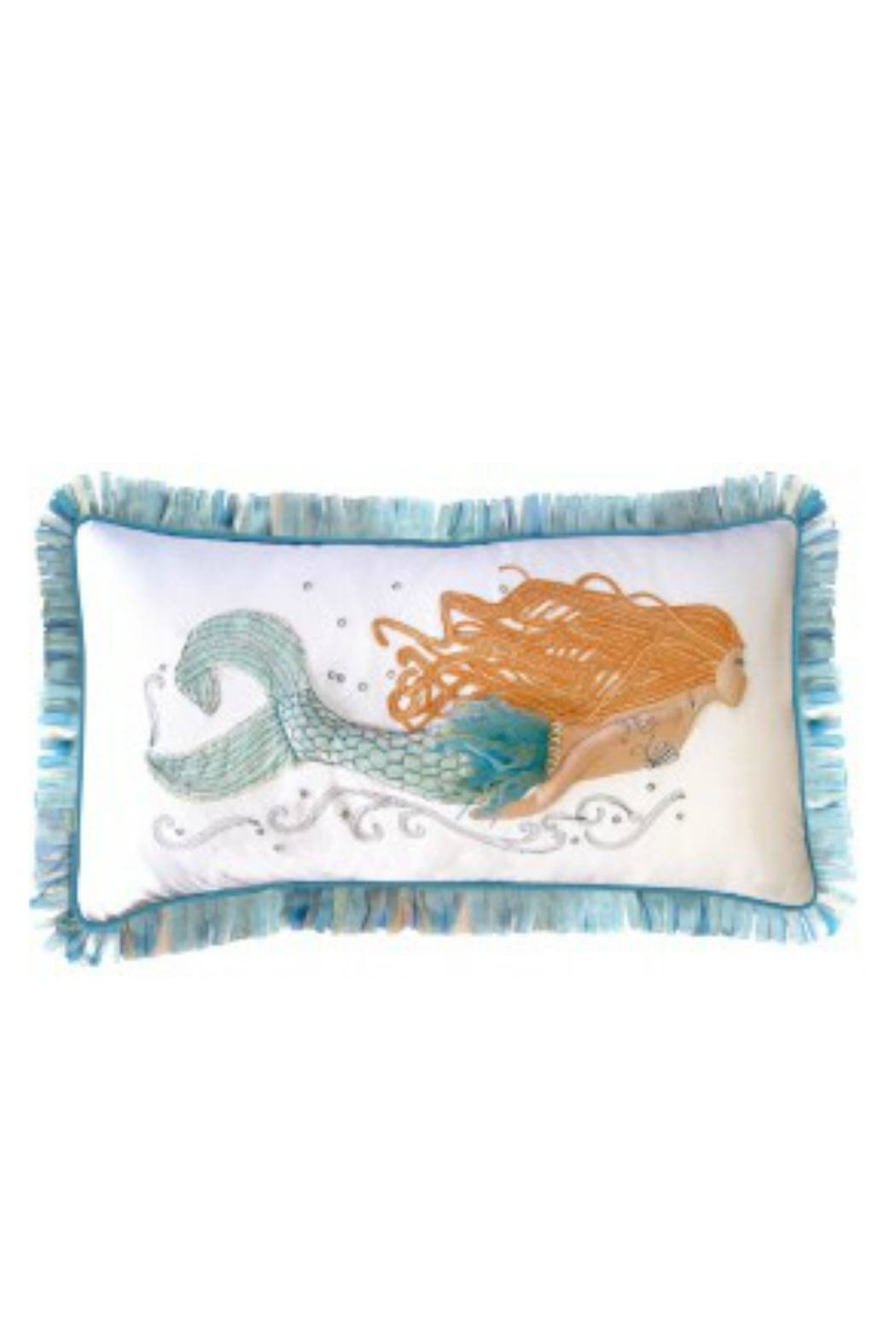 RIGHT SIDE DESIGN 3dappliqué Mermaid Pillow - Front Cropped Image