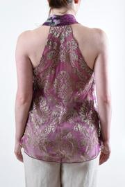 Anna Sui Halter Silk Top - Back cropped