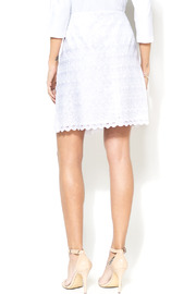 STITCH Everyday Lace White Skirt - Back cropped