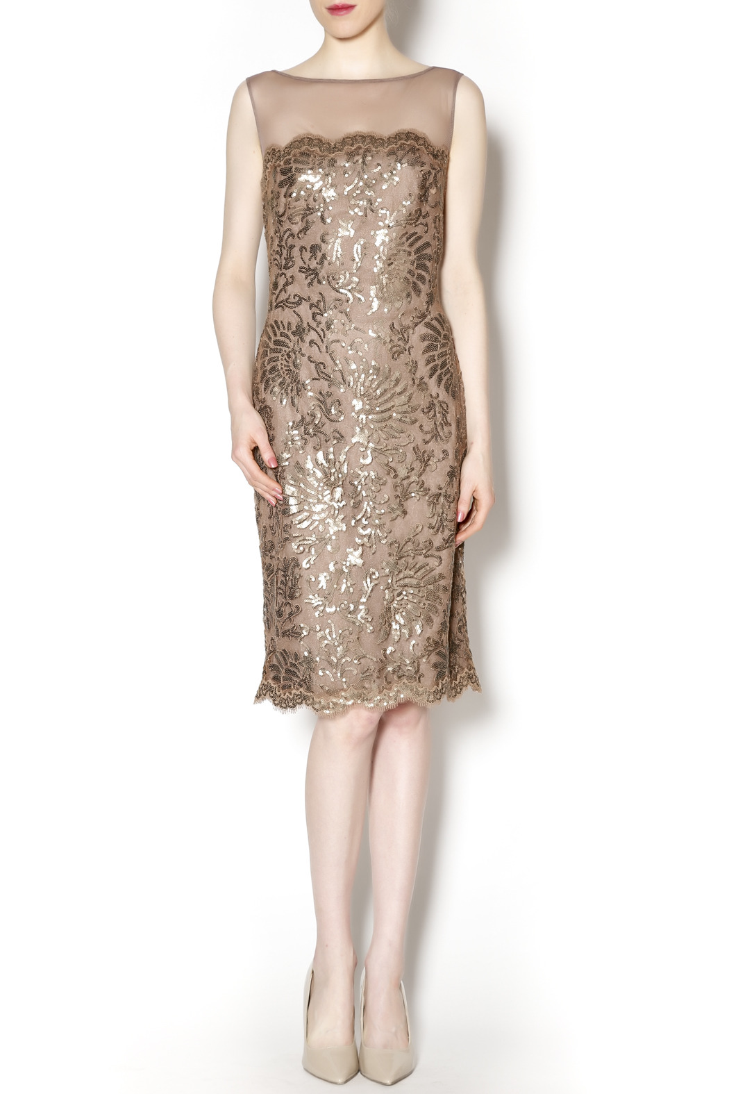 Tadashi Shoji Sequin Lace Dress from Avalon by Tiger Lily — Shoptiques