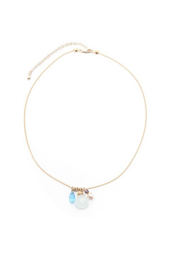 La Vie Parisienne Gold Charm Necklace - Alternate List Image