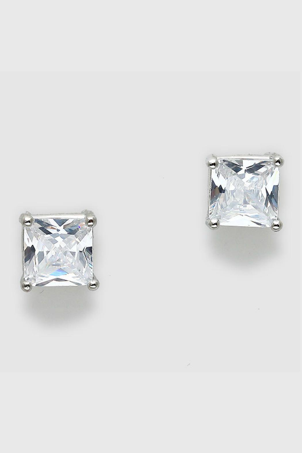 Pretty Little Things Square Diamond Earrings Front Cropped Image
