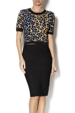 Romeo & Juliet Couture Crop Leopard Sweater - Product List Image