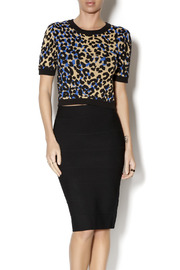 Romeo & Juliet Couture Crop Leopard Sweater - Product Mini Image