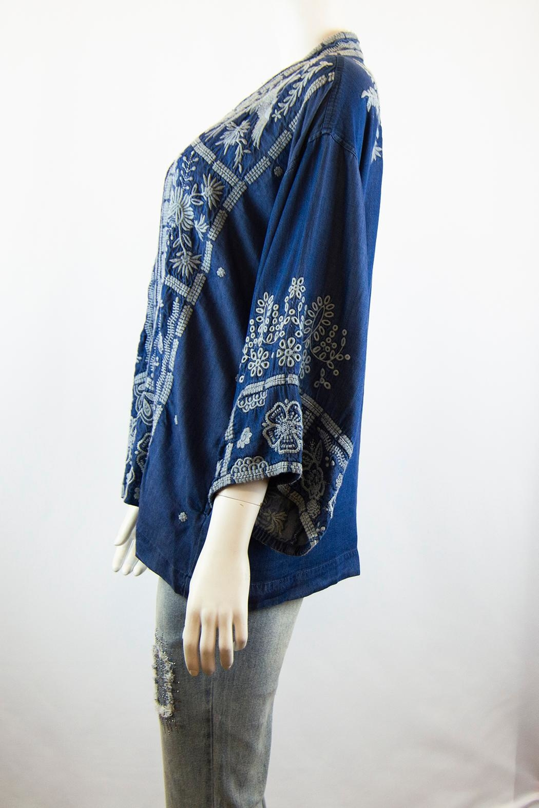 3J Workshop by Johnny Was Alberte Cropped Kimono - Front Full Image