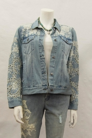 3J Workshop by Johnny Was Eyelet Denim Jacket - Product Mini Image