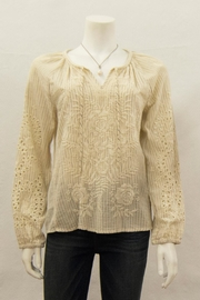 3J Workshop by Johnny Was Ivory Marrakesh Blouse - Product Mini Image