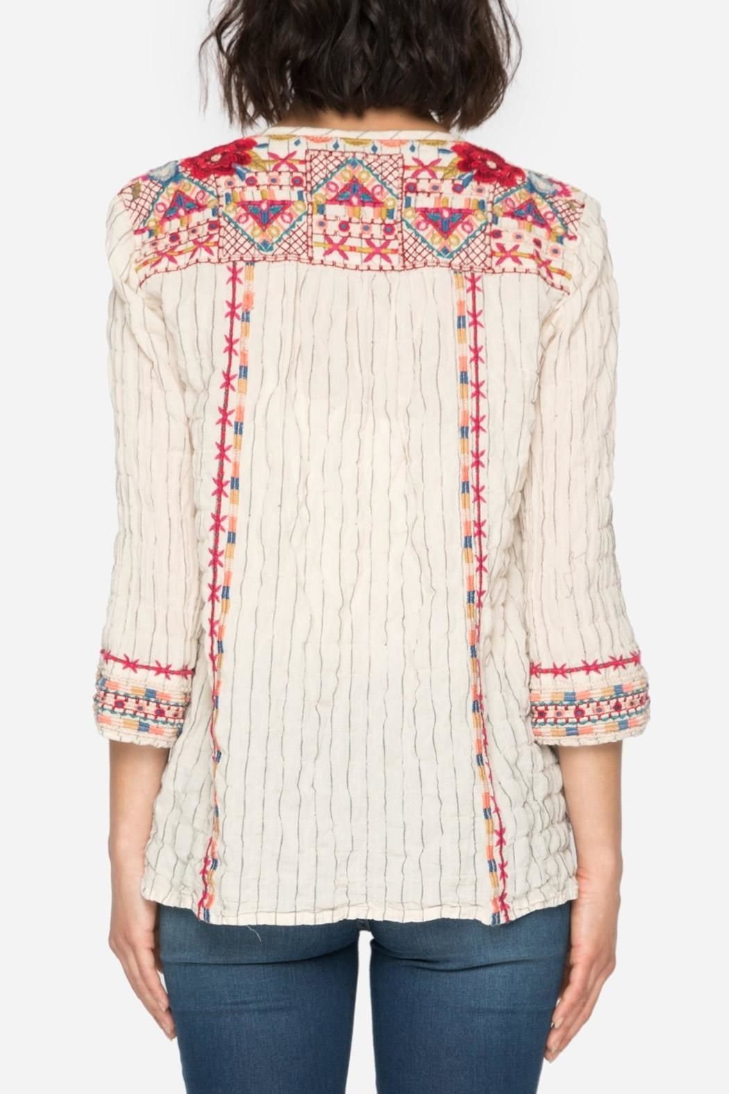 Johnny Was Kealan Boho Shirt - Front Full Image