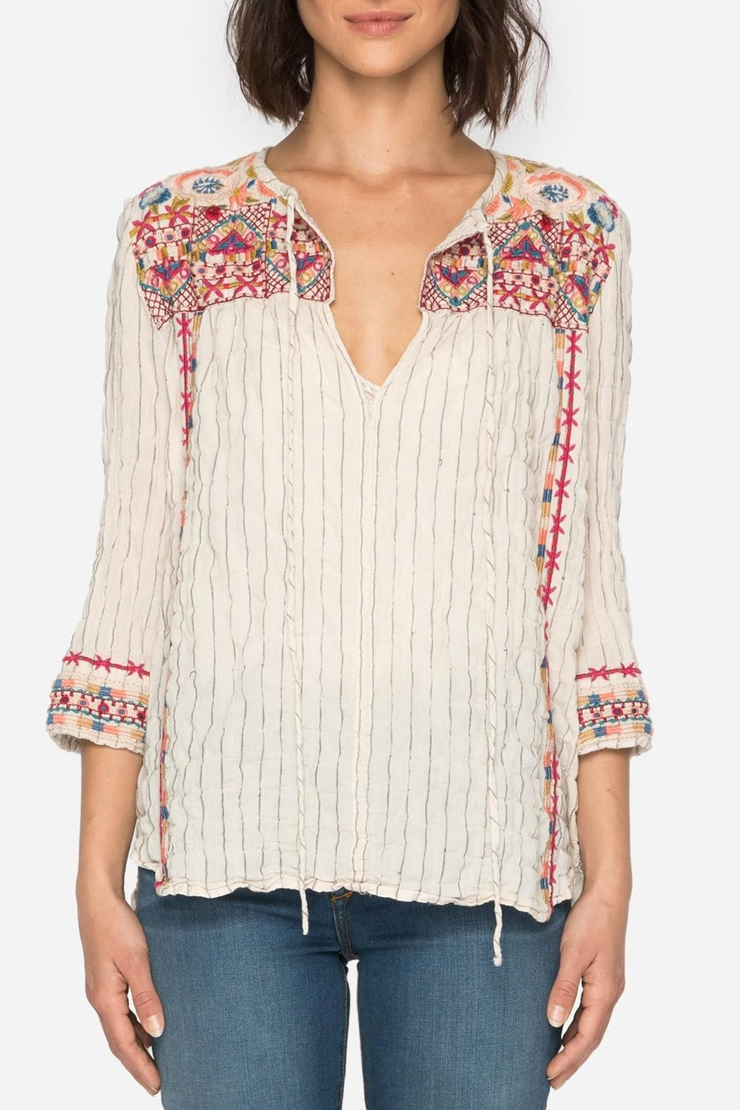 Johnny Was Kealan Boho Shirt - Main Image