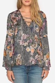3J Workshop by Johnny Was Lace-Up Swing Blouse - Front cropped